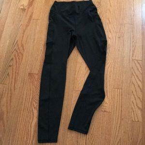 Small Black Leggings, Mesh Side Panels & Pockets